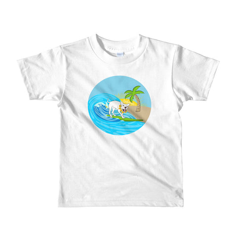 Surfing Pitbull Mr Wilson Short sleeve kids t-shirt