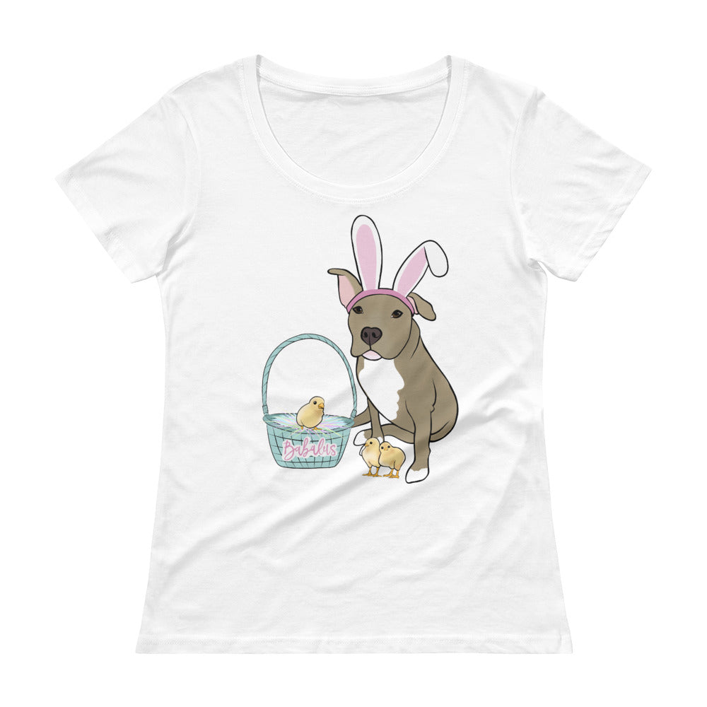 Easter Pitbull Ladies' Scoopneck T-Shirt