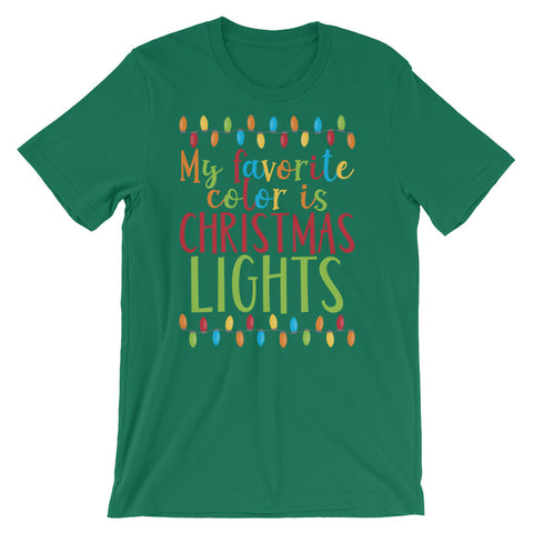 Favorite Color Is Christmas Lights Short-Sleeve Unisex T-Shirt