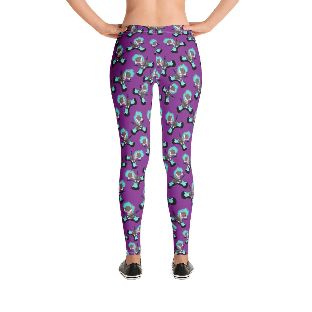 Punk Rock Pup Chinese Crested Women's Leggings