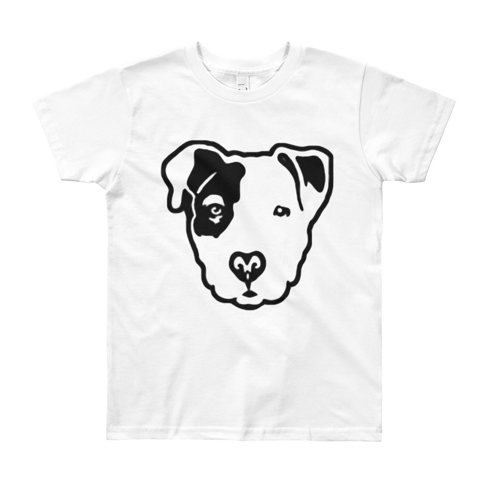 Pitbull Face Youth Short Sleeve T-Shirt