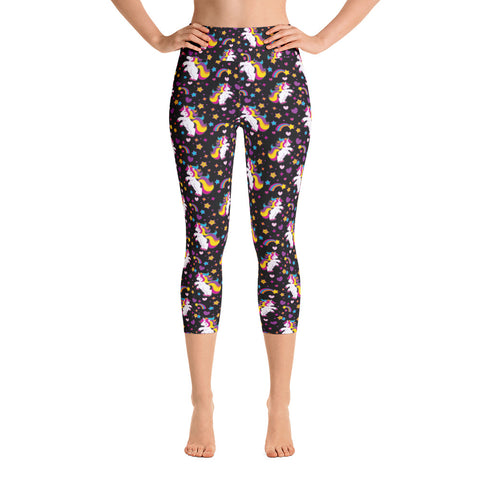 Unicorn Yoga Capri Leggings