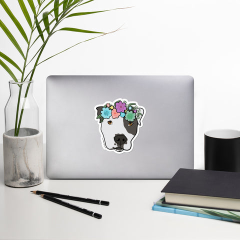 Polka Pitty Pitbull Sticker