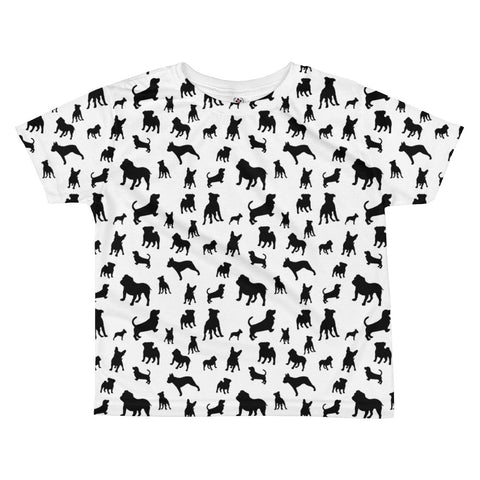 Monochrome Puppies All-over kids sublimation T-shirt
