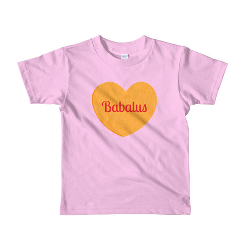 Babalus Conversation Heart Valentines Day Short sleeve kids t-shirt