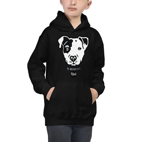 My Brother is a Pitbull Kids Hoodie