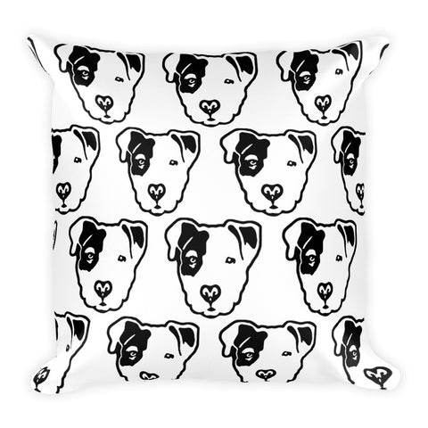 Pitbull Face Square Pillow