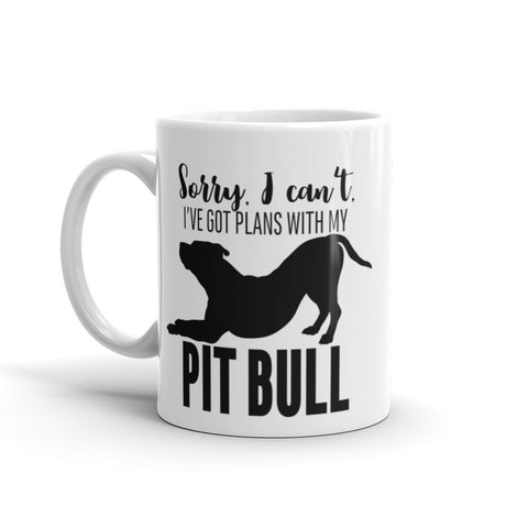 Plans with My Pitbull Mug