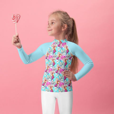 Sisters Floral Kids Rash Guard