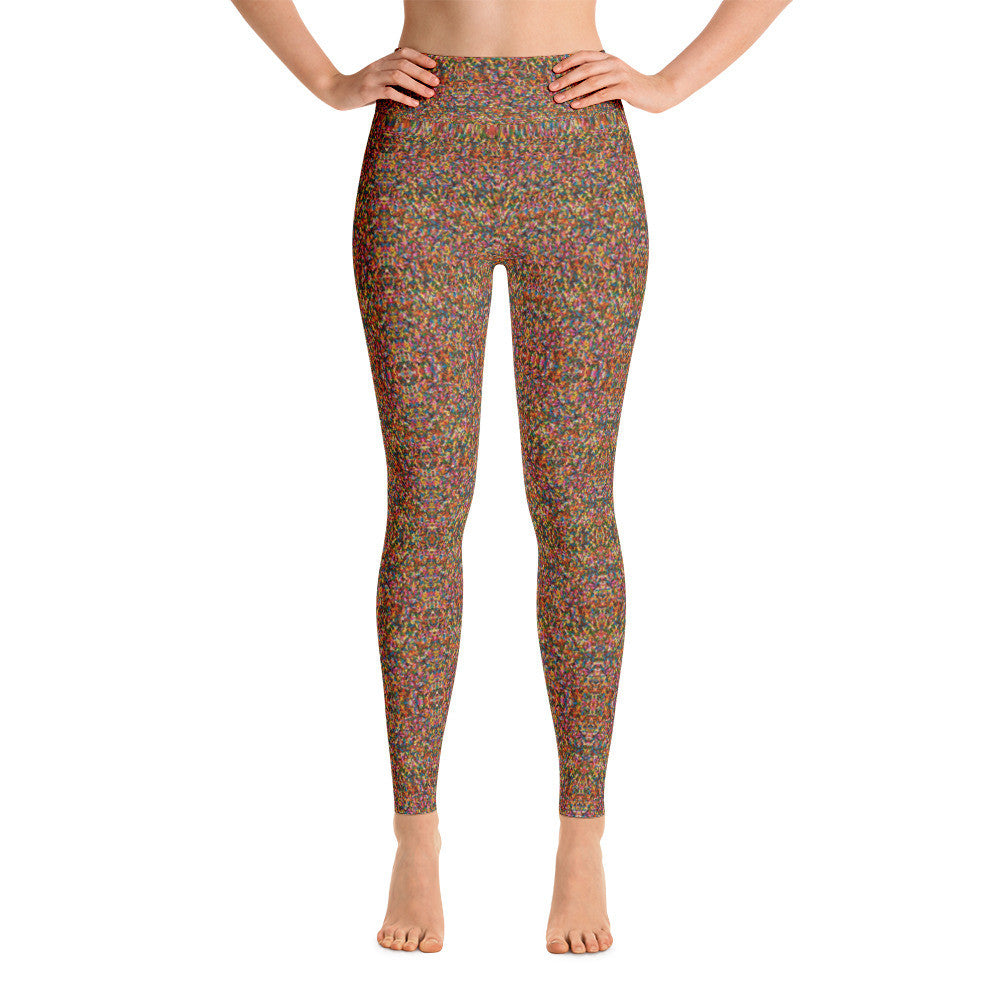 Rainbow Sprinkle Yoga Leggings