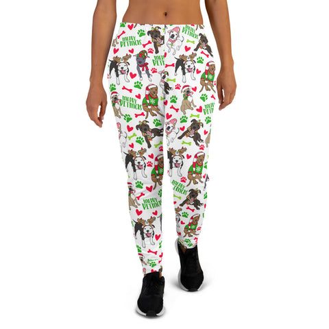Christmas Pitbull Merry Pitmas Women's Joggers