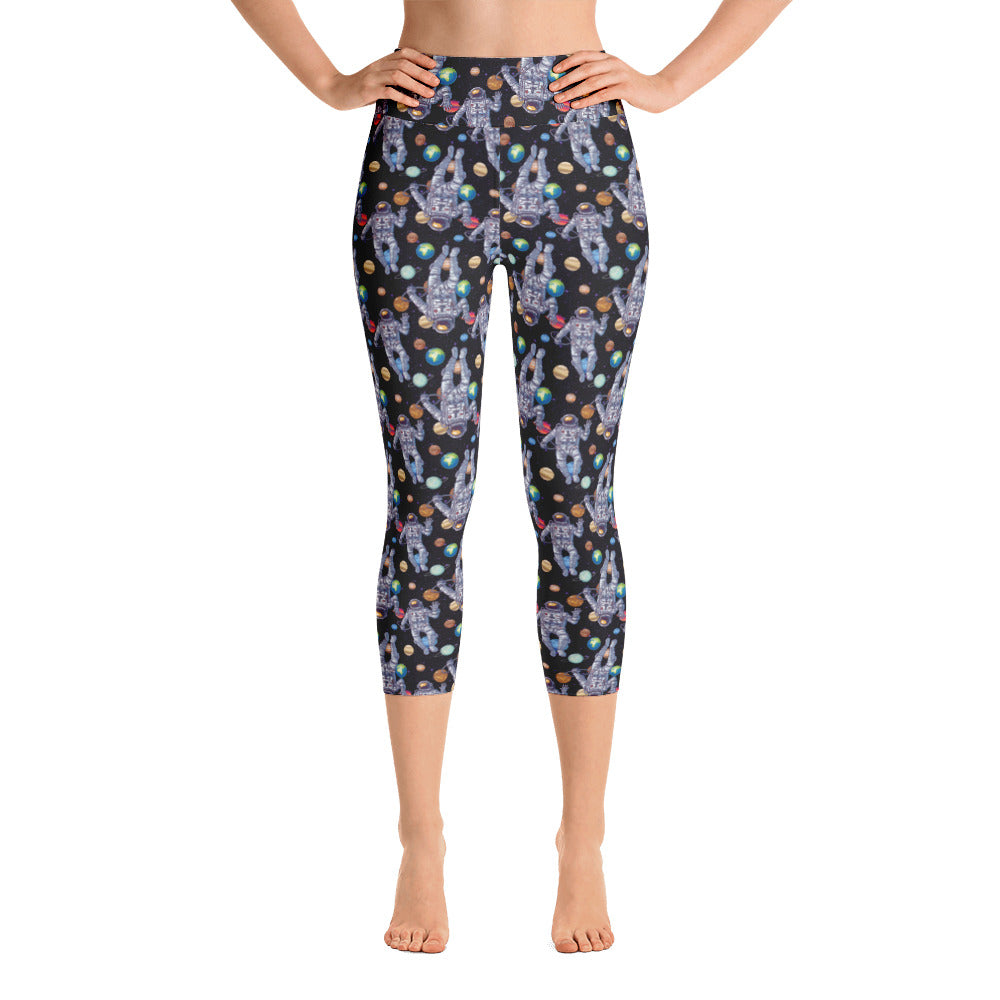 Astronaut Outer Space Yoga Capri Leggings