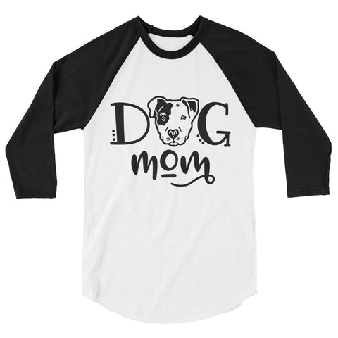 Pitbull Dog Mom 3/4 sleeve raglan shirt