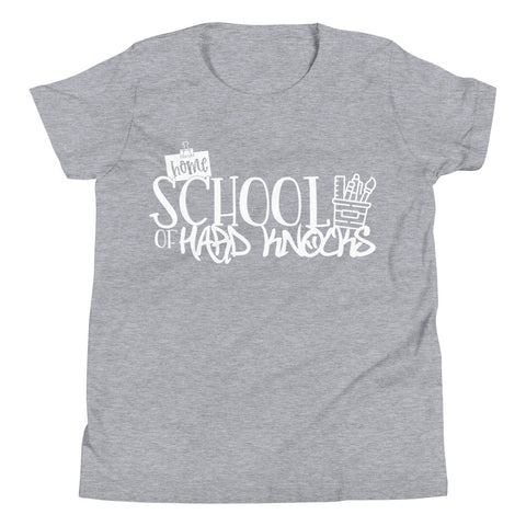 Homeschool of the Hard Knocks Youth Short Sleeve T-Shirt