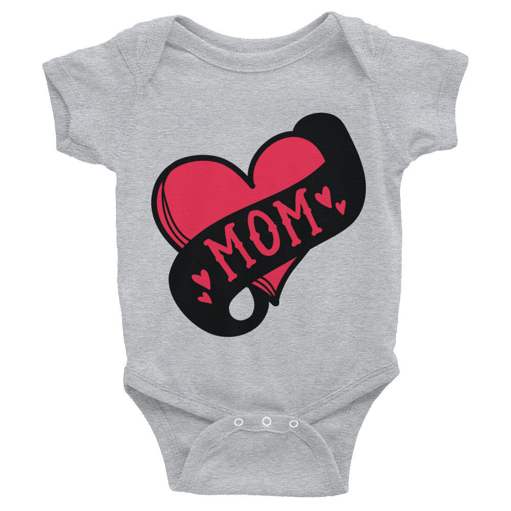 Mom Tattoo Heart Infant Bodysuit
