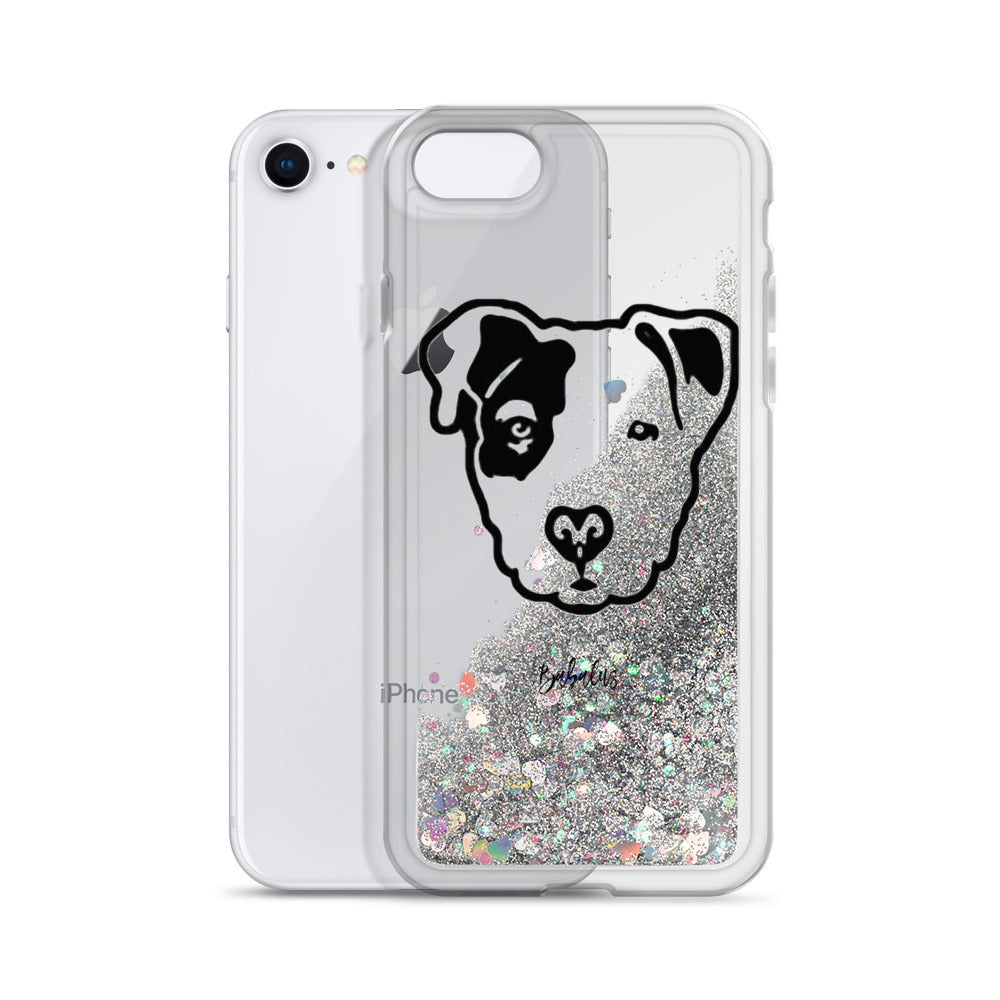 Pitbull Face Babalus Liquid Glitter Phone Case