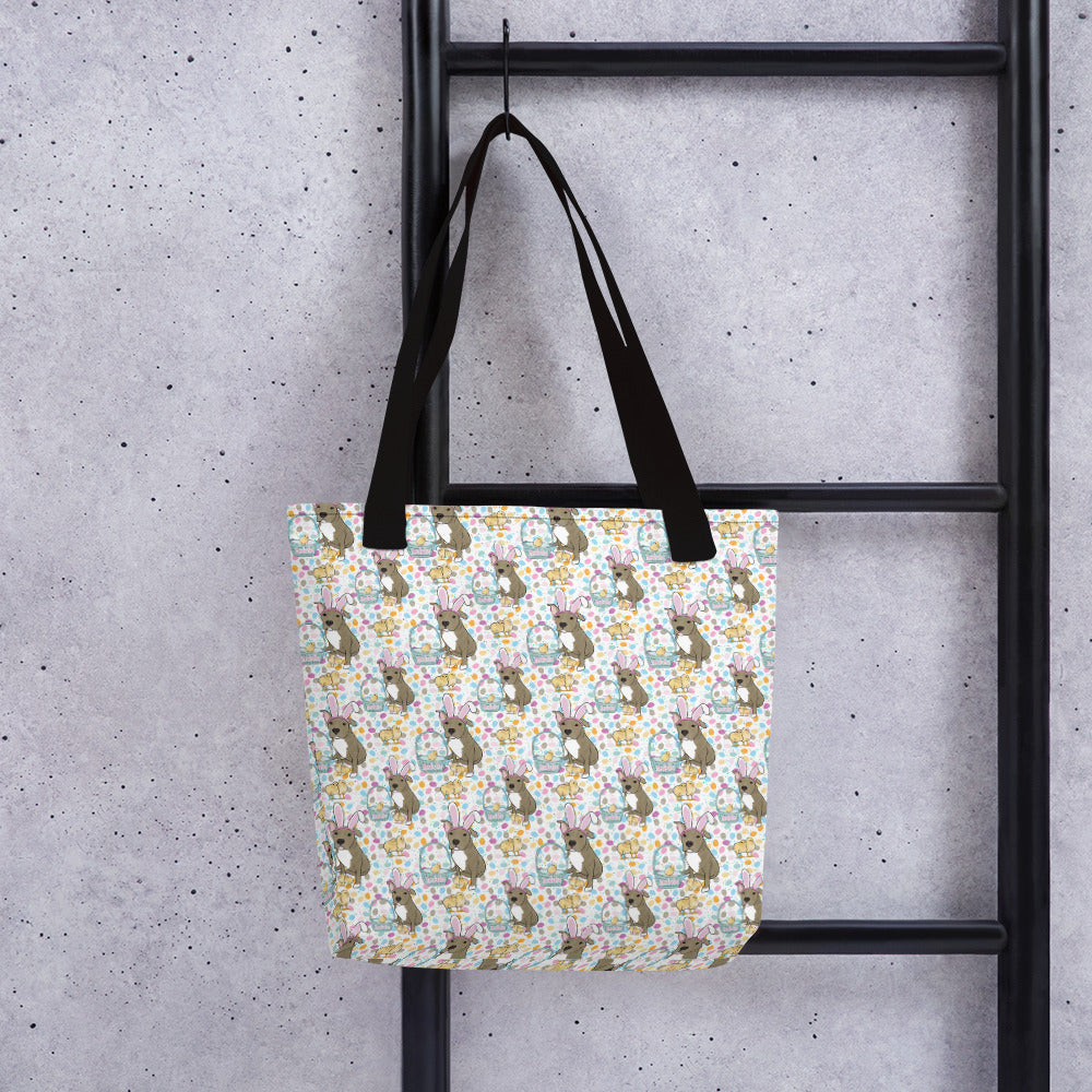 Easter Pitbull Tote bag