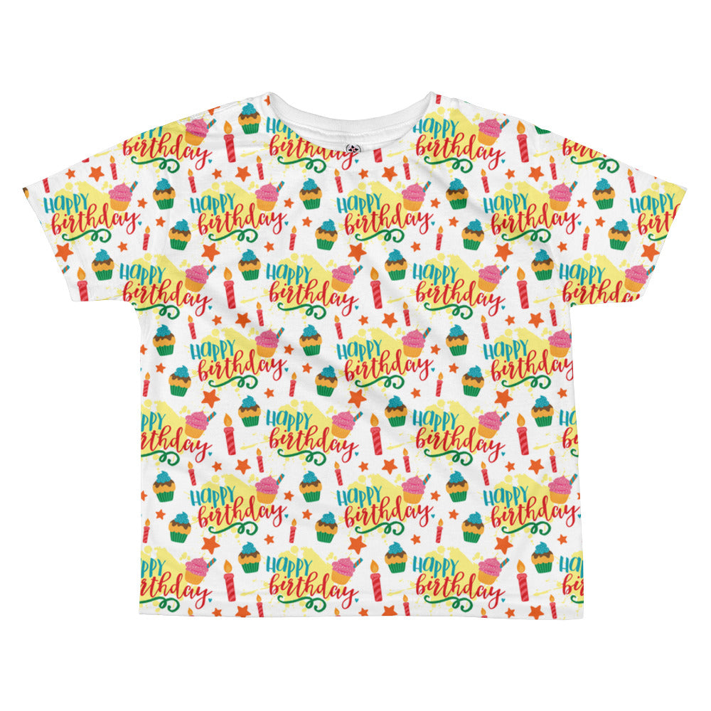 4ef31a357 Happy Birthday All-over kids sublimation T-shirt – Babalus By Lucy
