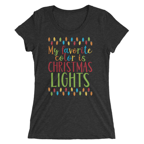 Favorite Color Is Christmas Lights Ladies' short sleeve t-shirt