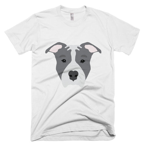Blue Pitbull Face Short sleeve men's t-shirt
