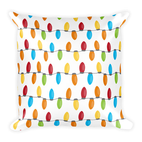 Christmas Lights Square Pillow