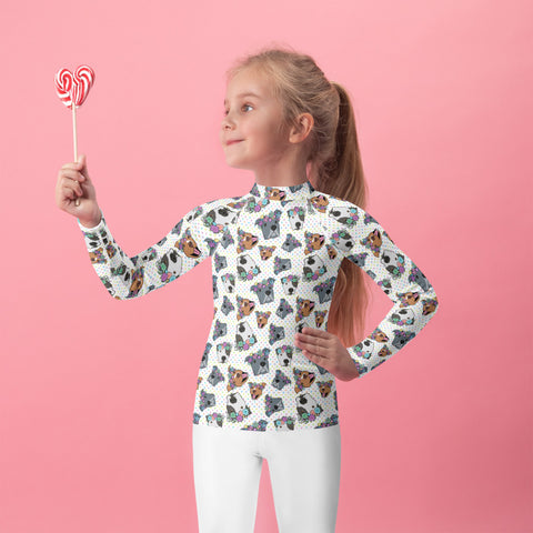Polka Pitty Kids Rash Guard