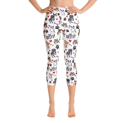 So Pitty Pitbull Yoga Capri Leggings
