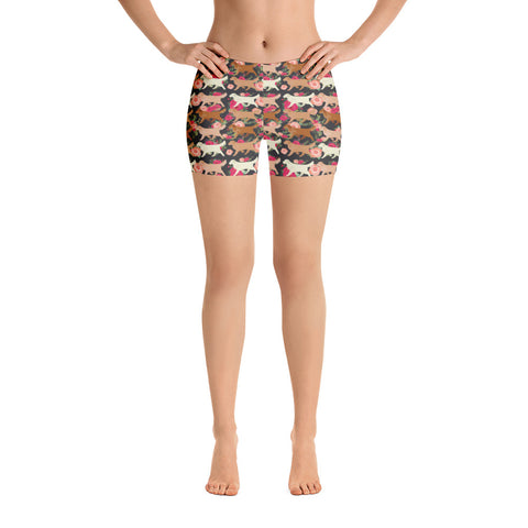 Floral Golden Retriever Shorts
