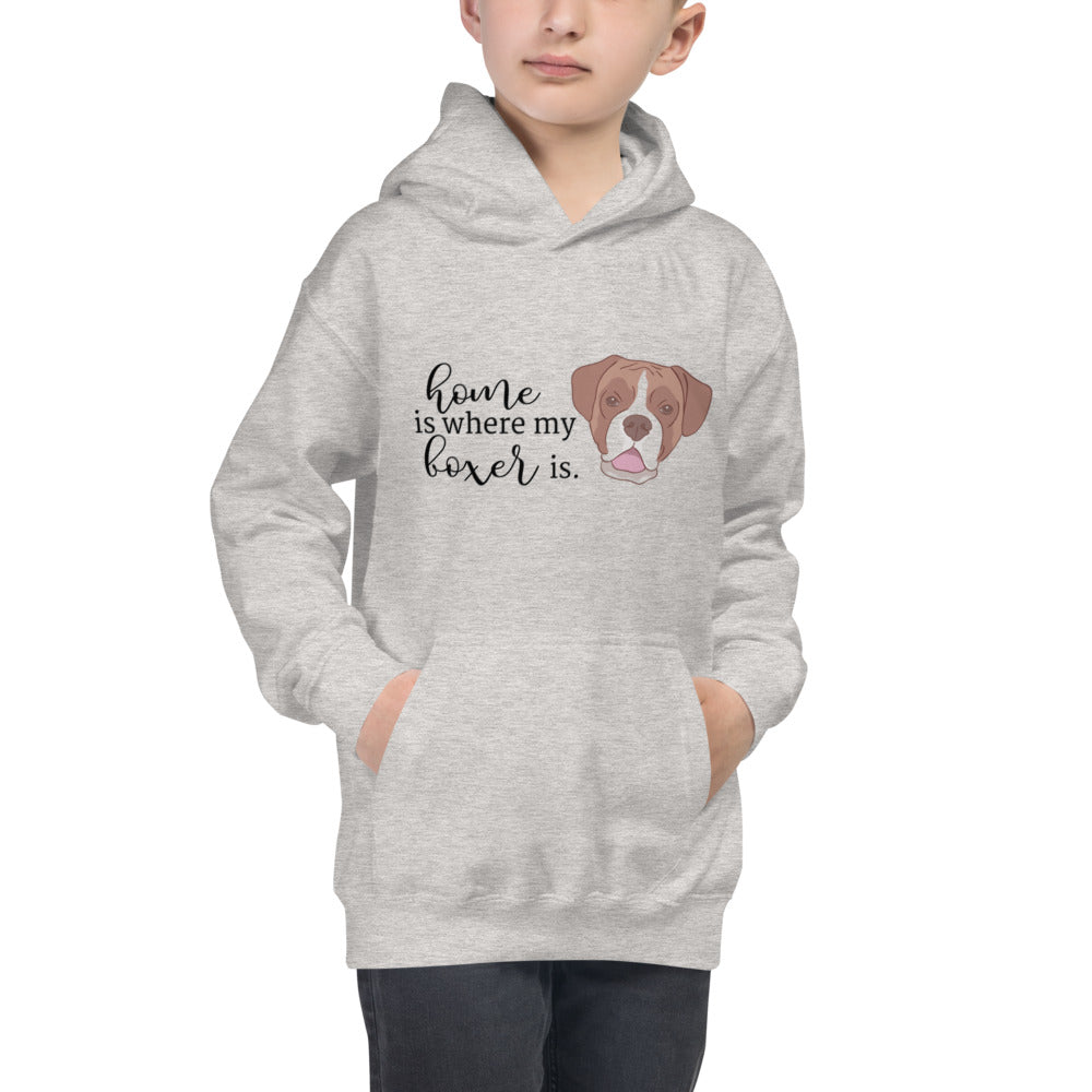 Home is where my Boxer is Kids Hoodie