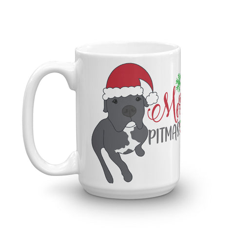 Merry Pitmas Pitbull Christmas Mug