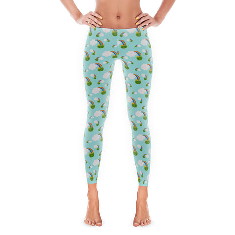 St. Patricks Day Pot Of Gold Irish Women's Leggings