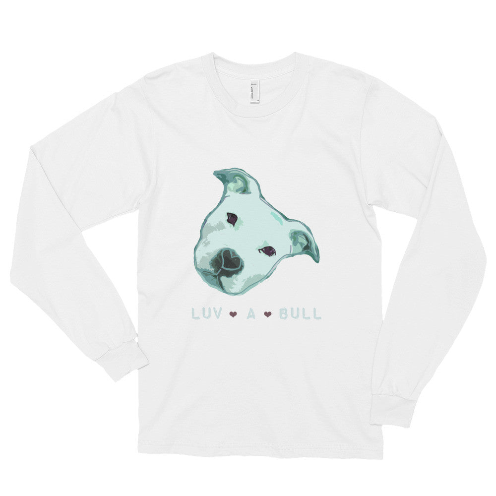 Luv A Bull Pitbull Long sleeve t-shirt (unisex)