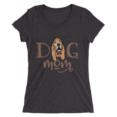 Bloodhound Dog Mom Ladies' short sleeve t-shirt