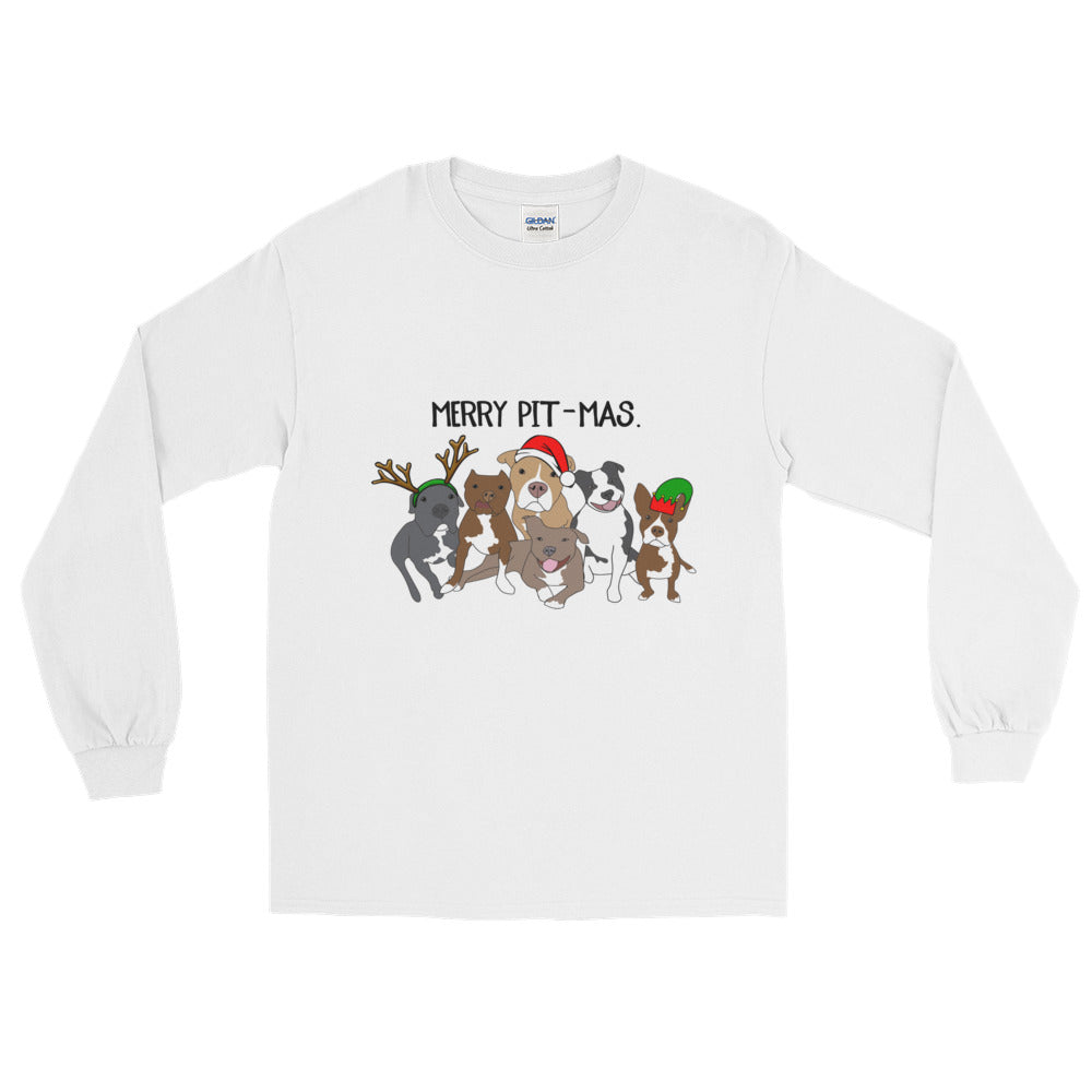Merry Pitmas Pitbull Long Sleeve T-Shirt