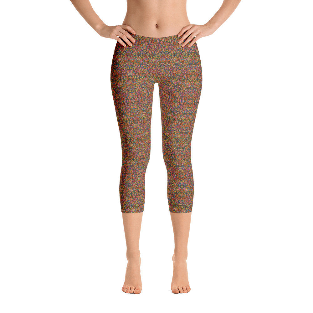 Rainbow Sprinkle Capri Leggings