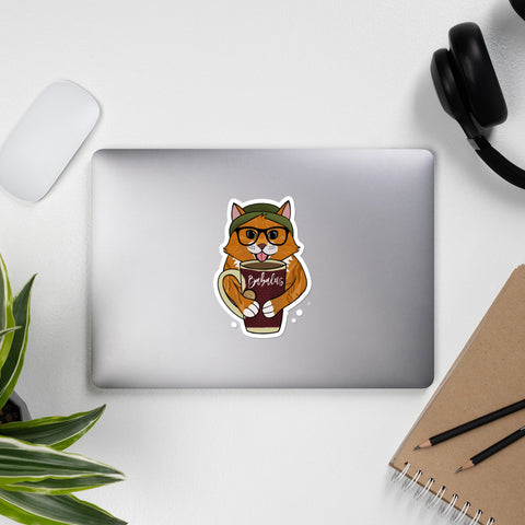 Fall Kitty Cat Sticker