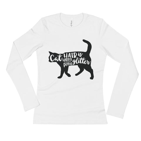 Cat Hair Ladies' Long Sleeve T-Shirt