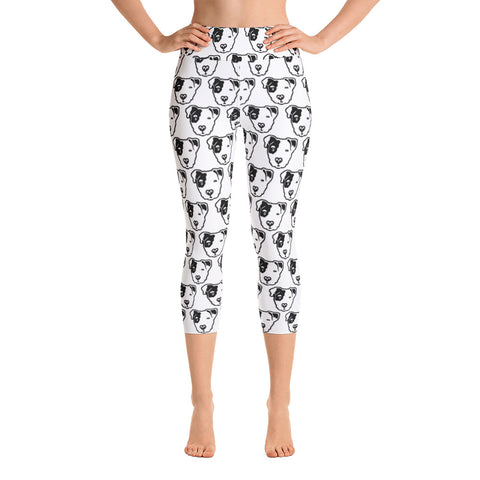 Pitbull Face Yoga Capri Leggings