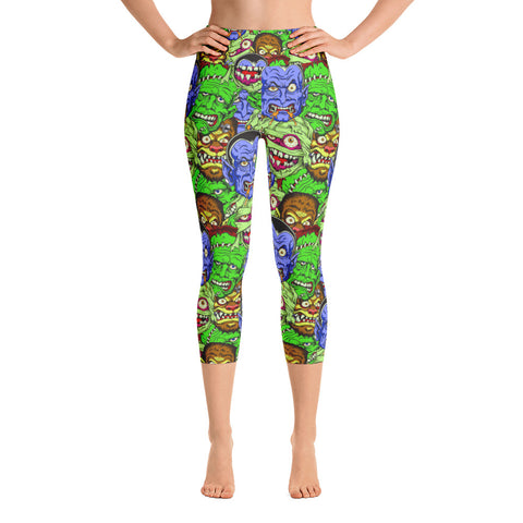 Movie Monster Yoga Capri Leggings