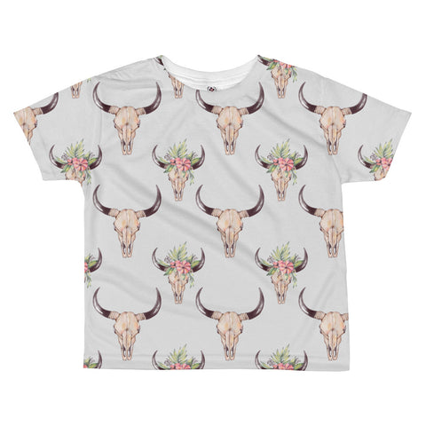 Cow Skull All-over kids sublimation T-shirt