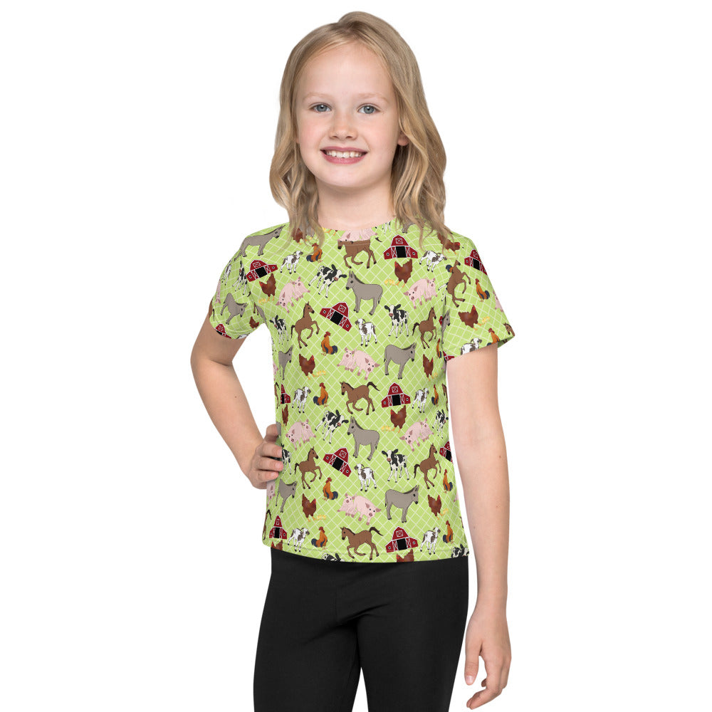 Farm Animal All-over kids sublimation T-shirt