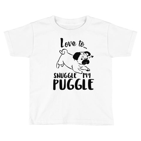 Snuggle My Puggle Kids Short Sleeve T-Shirt