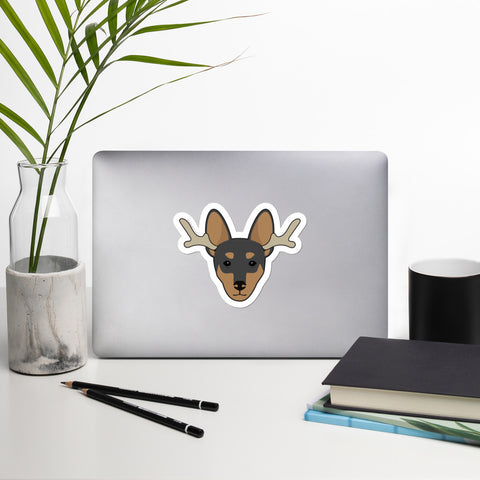 Christmas Miniature Pinscher Sticker