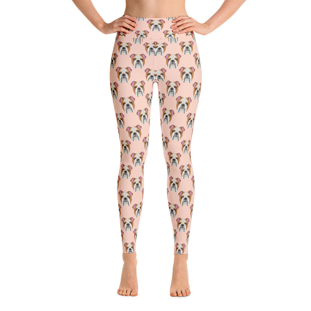 English Bulldog Yoga Leggings