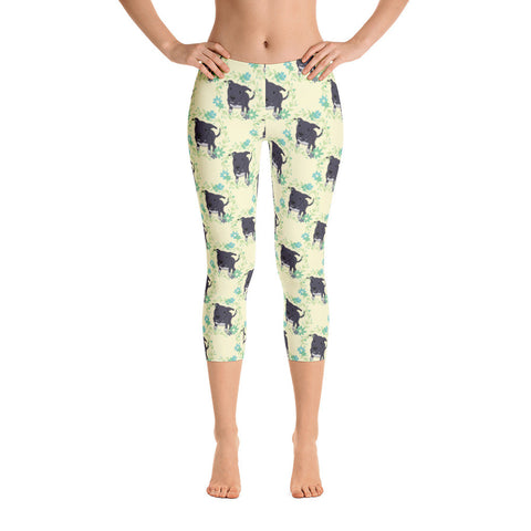 Dori the Pitbull Capri Leggings