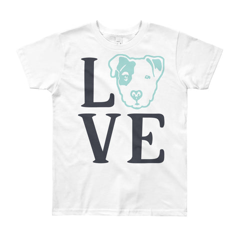 Pitbull Love Youth Short Sleeve T-Shirt