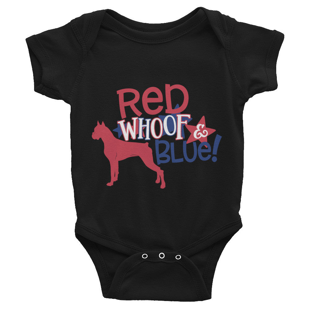 Boxer Red, White & Blue Infant Bodysuit