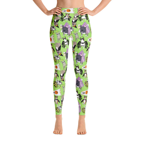 Halloween Doggies Yoga Leggings