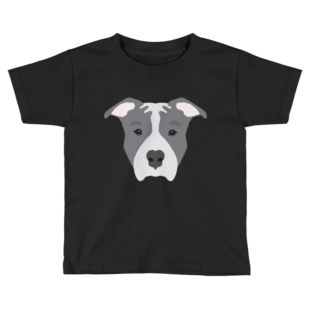 Blue Pitbull Kids Short Sleeve T-Shirt