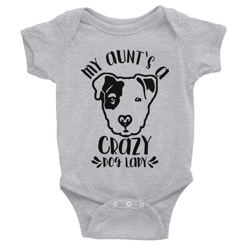 My Aunt's a Crazy Dog Lady Pitbull Infant Bodysuit